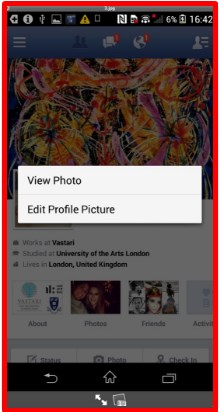 how to change profile picture on facebook using android