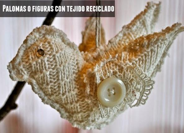 Figuras y motivos con tejido reciclado
