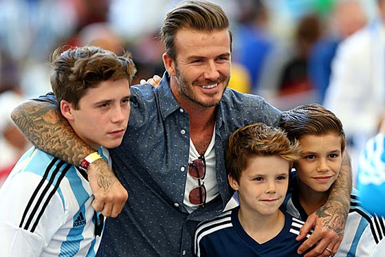 Sons David Beckham first visited FIFA World Cup