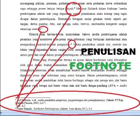 Cara Penulisan Catatan Kaki Footnote Lengkap Dengan Contoh Materi Dan Tugas