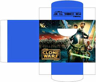Cajas de Star Wars para imprimir gratis.