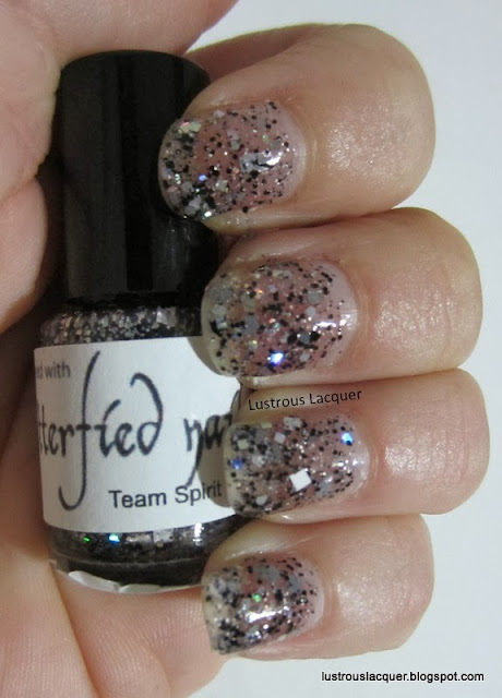 Glitterfied Nails Black Out, Black White Glitter
