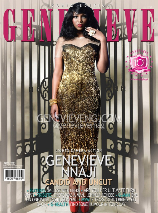 Genevieve Nnaji Covers Genevieve Magazine's 10th Anniversary Edition