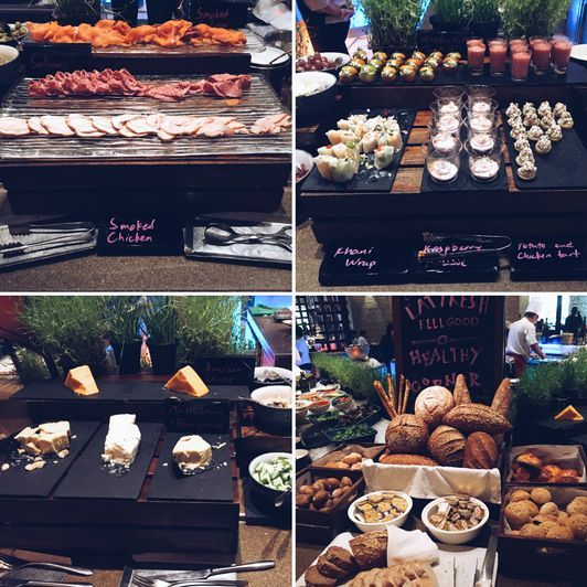 Bread, cheese, and cold cuts at the Heat Restaurant of EDSA Shangri-La Hotel