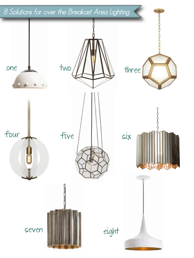 Cozy•Stylish•Chic's stylish pendant picks for a cozy breakfast area