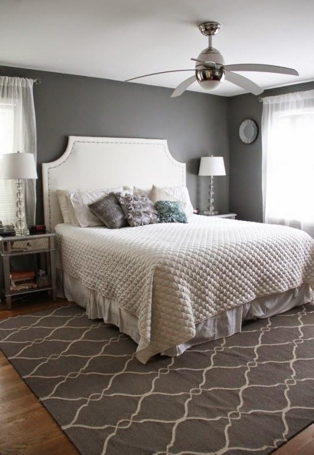 Habitación paredes grises