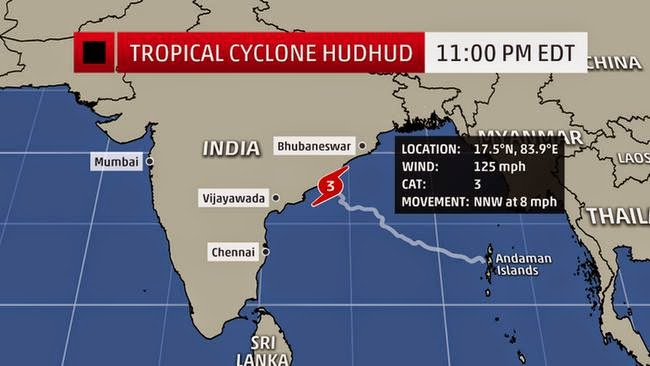 Helpline numbers for Cyclone HUDHUD Andhra Pradesh Odisha in India
