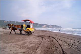 beach near prambanan temple, close by, jogja, yogya,