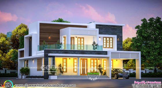 2512 square feet beautiful flat roof 4 BHK home