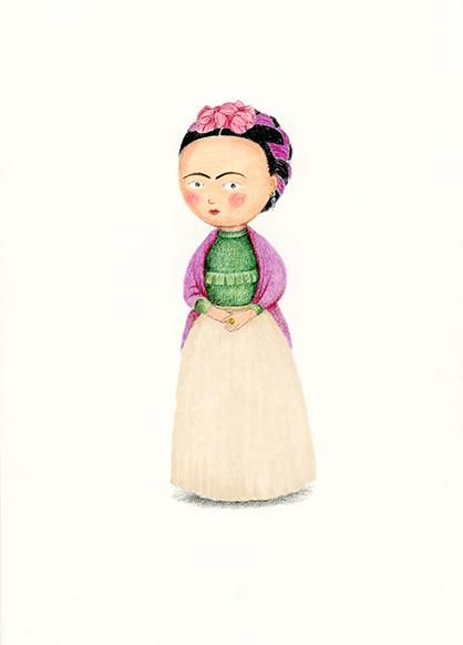 Frida Khalo illustration Yara Dutra