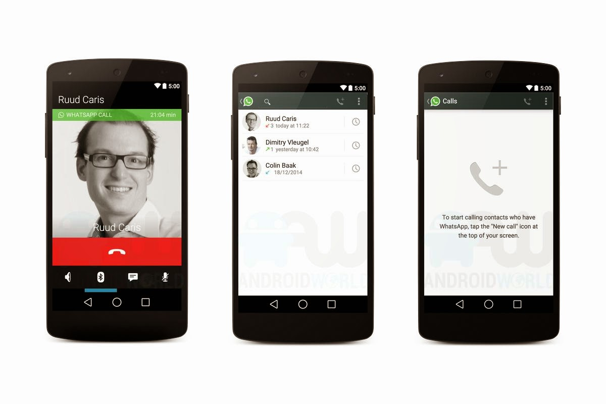 Whatsapp Voice call on Nexus 5