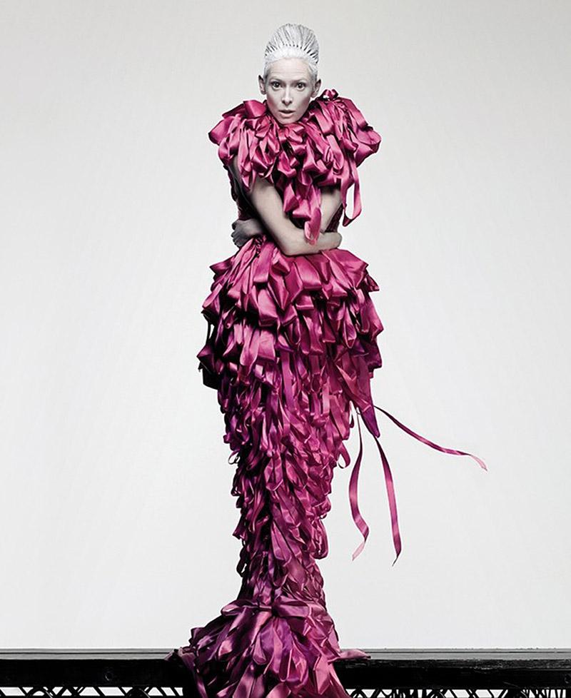 Tilda Swinton Fashion Editorial