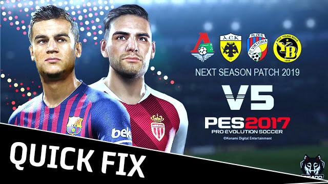 PES 2017 Next Season Patch 2019 V5 0 Quick Fix - Micano4u | PES