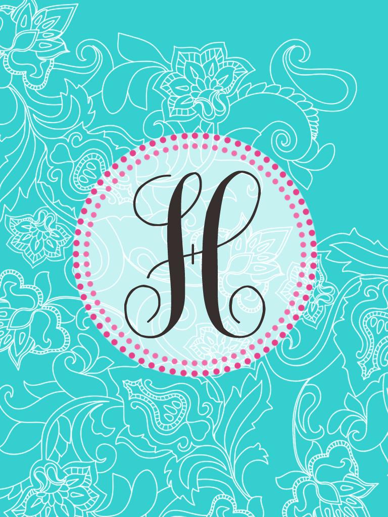 Fancy Letter H D...Q Letter Wallpaper