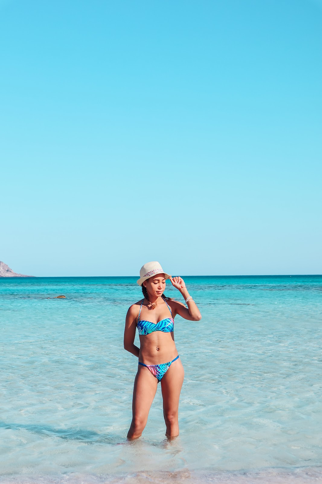 Elafonisi, pink beach in Crete