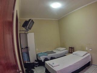 Quarto do hotel em Campo Grande/MS.