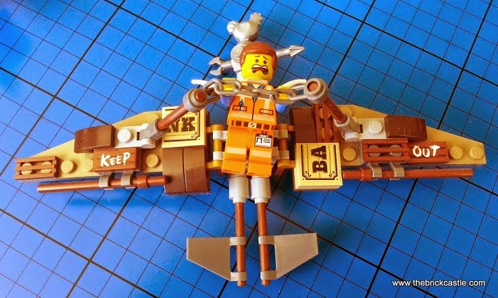 LEGO Getaway Glider set 70800 review Emmet minifigure