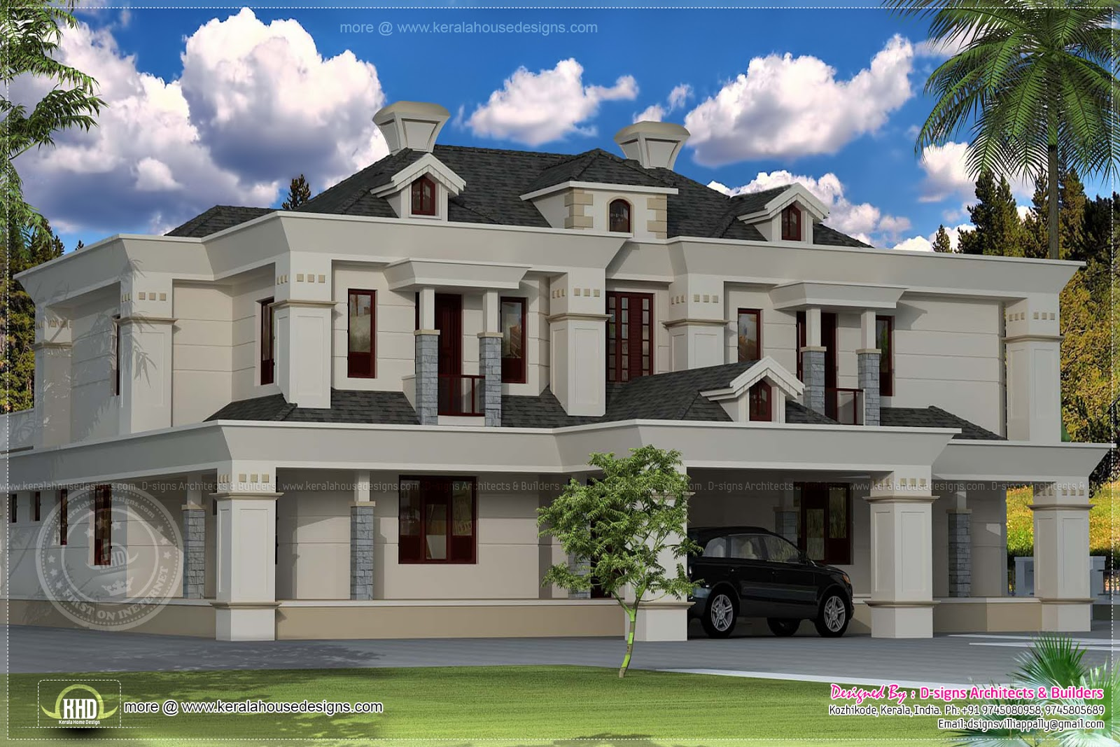 91 Victorian Style House Plans In Kerala   single floor 4 bedroom         4400 sq ft victorian style exterior home kerala plans for Victorian  style house plans in kerala