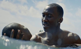 Juan teaches Little to swim in Barry Jenkin's Moonlight (2016)