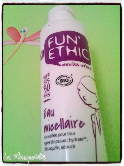 Eau micellaire Fun' Ethic - Blog beauté Les Mousquetettes©