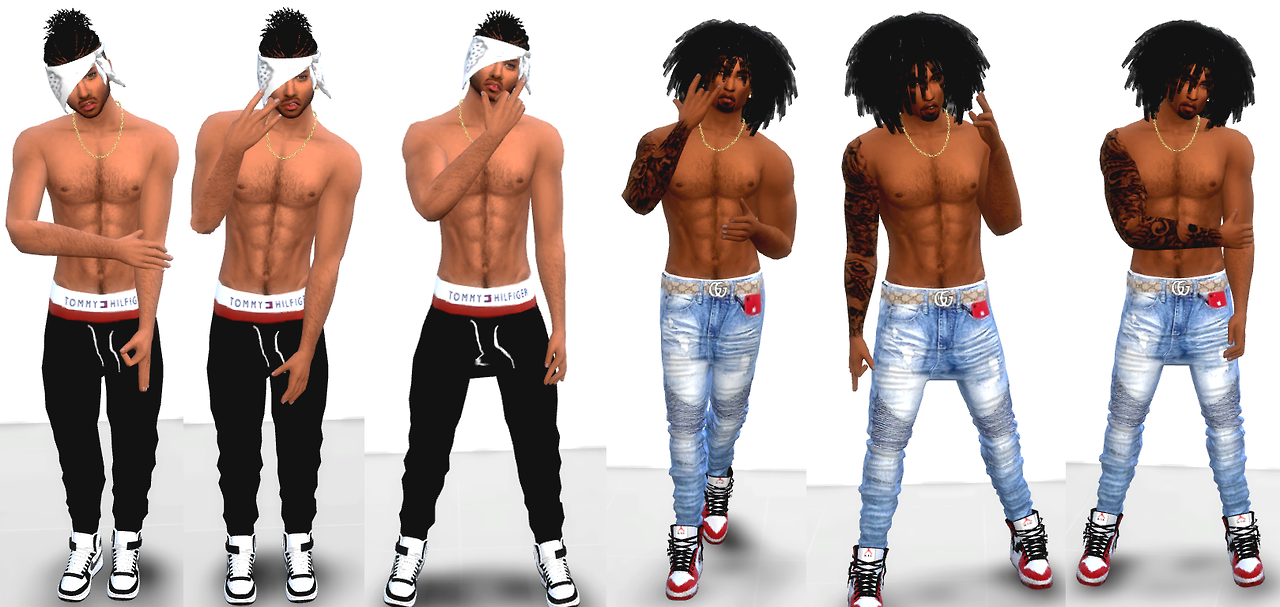 The Black Simmer: Male Poses by XxBlacksims