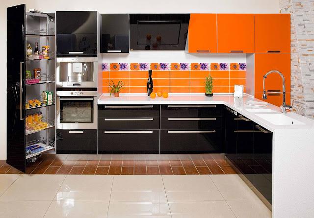 Кухня белого акрила фото