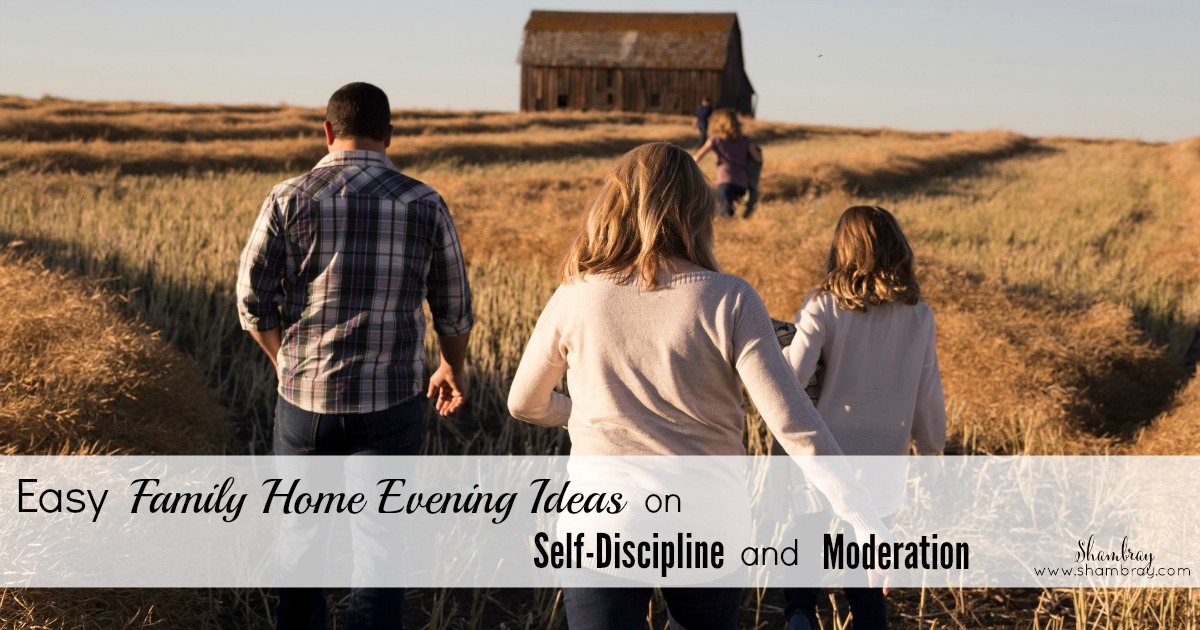 shambray easy family home evening ideas on self discipline moderation
