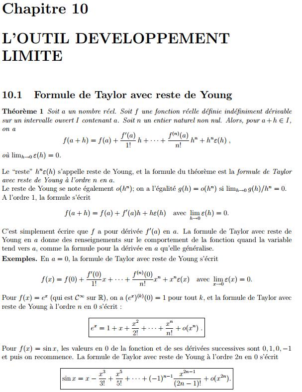 Cours :limites et continuité des fonctions