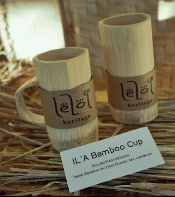gelas bahan dasar dari bambu