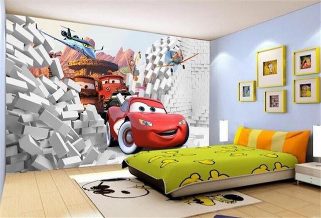 Lastenhuone Tapetti lasten tapetti Disney Cars lastenhuone tapetti valokuvatapetti lapsia
