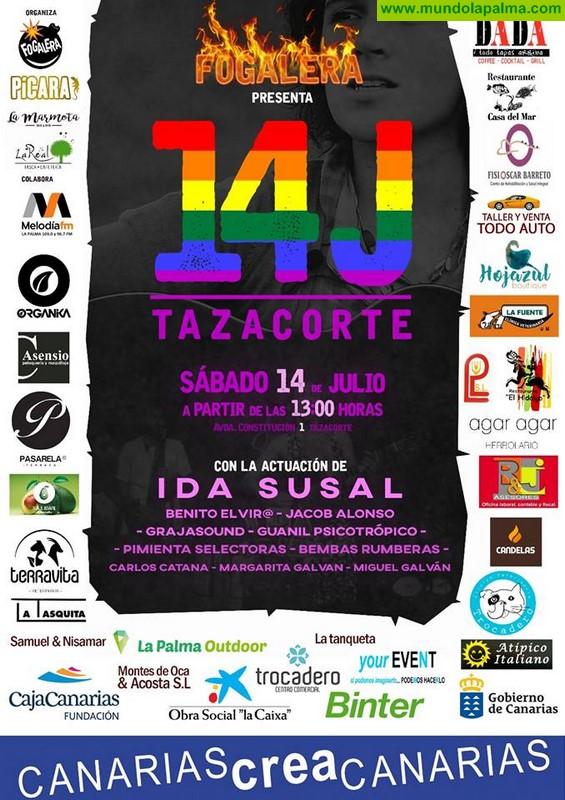 La primera fiesta del Orgullo arranca después de la manifestación en Tazacorte con Ida Susal