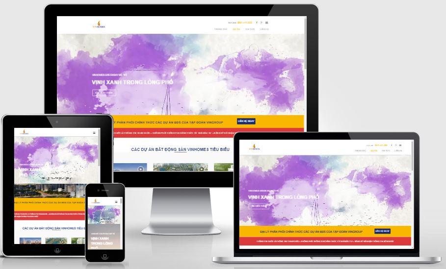 Chia sẻ Landing Page VinHomes - Template Bất Động Sản tuyệt đẹp