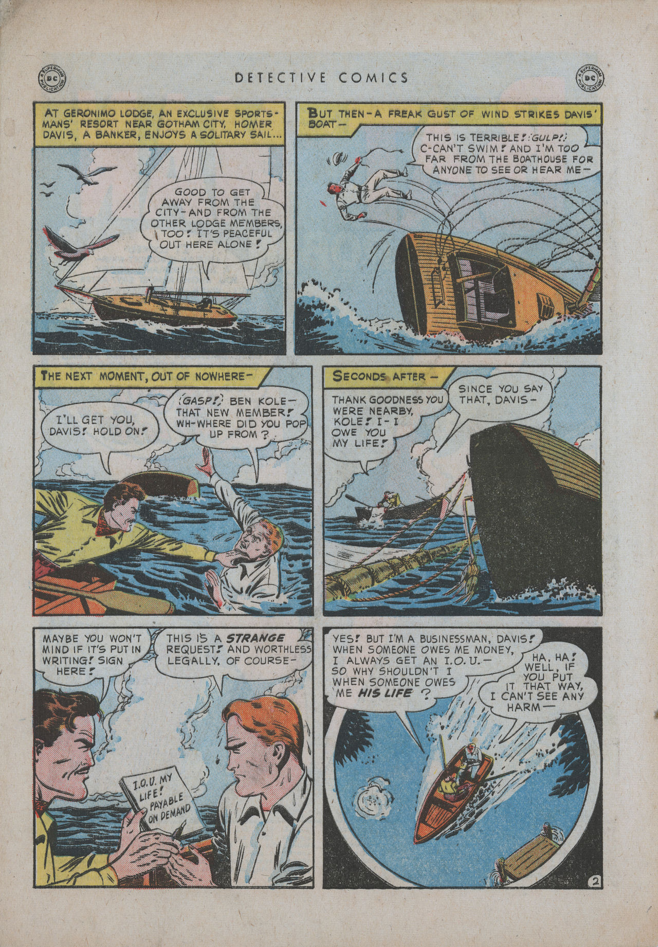Detective Comics (1937) 151 Page 3