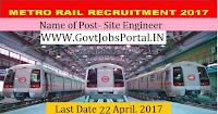 Metro Rail Limited Recruitment 2017– Site Engineer