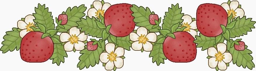 Frutas y Verduras: Orillas para Scrapbooking.