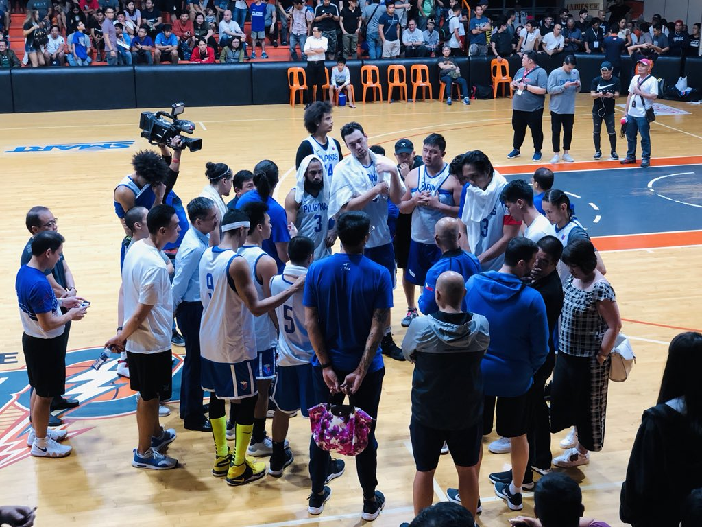Gilas Pilipinas - Jordan Second Tuneup Game Halted After Heated Verbal Exchange