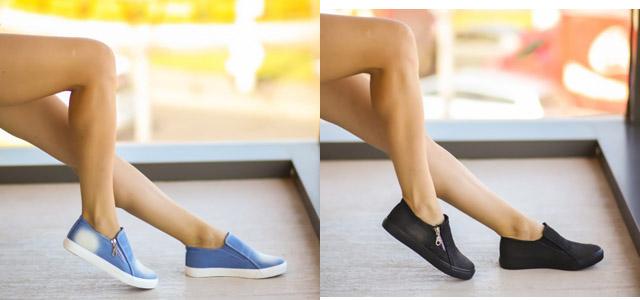 Tenisi dama ieftini din blug la moda online negri, albastri