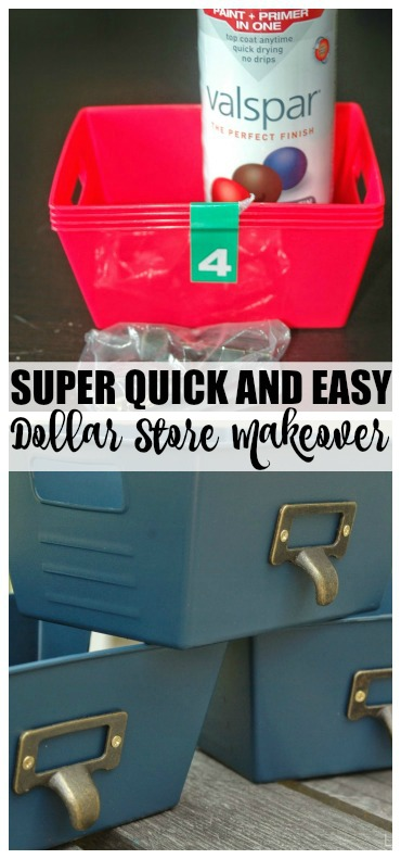 Dollar Tree storage bins before and after