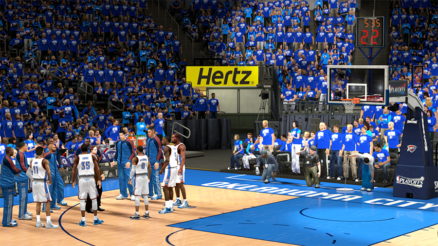 NBA 2K14 OKC Thunder Playoffs Crowd Patch