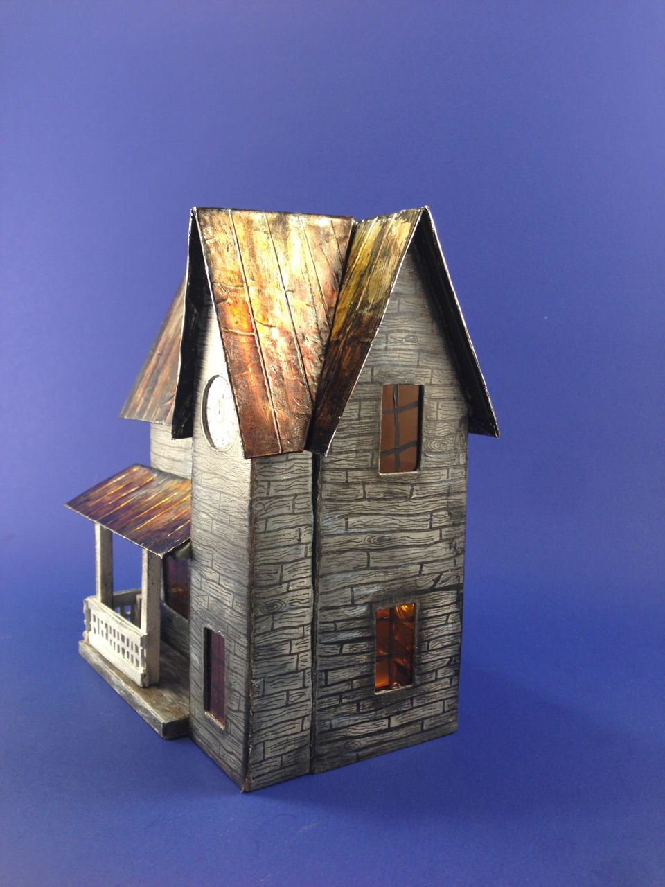 With Glue And Glitter Rusted Tin Roof On A Halloween