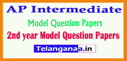 AP Intermediate 2nd year Model Question Papers 2018