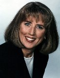 Janie's television promo shot. Photograph Janie Robinson, Television Journalist.