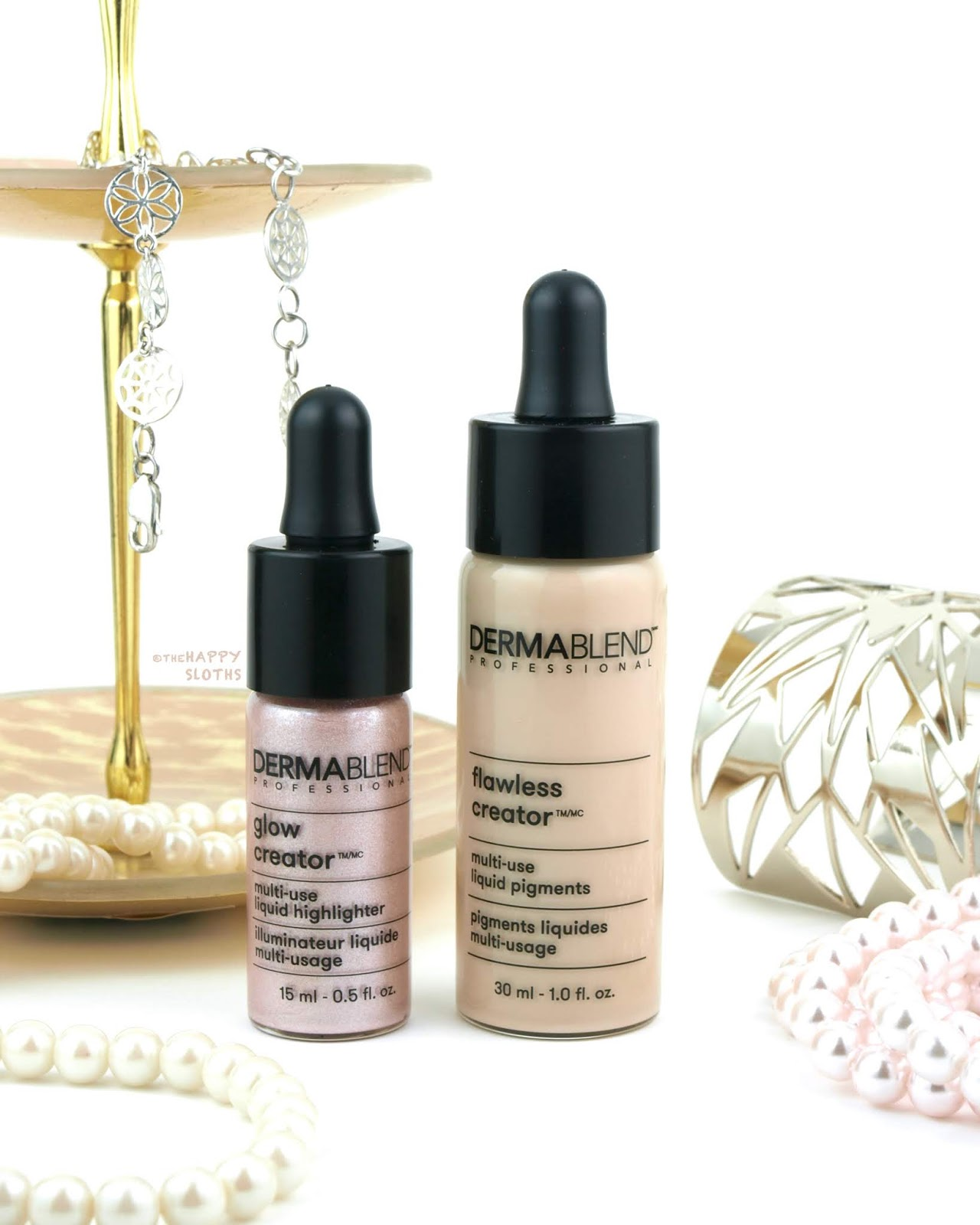 Dermablend | Flawless Creator Multi-Use Liquid Pigments & Glow Creator Multi-Use Liquid Highlighter: Review and Swatches