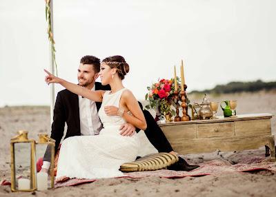 Sesja ślubna na plaży.