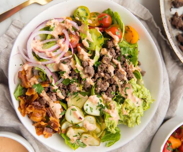 Burger Bowls (Whole30, Paleo, Low Carb) #healthy #diet