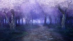 anime landscape outdoor background forest