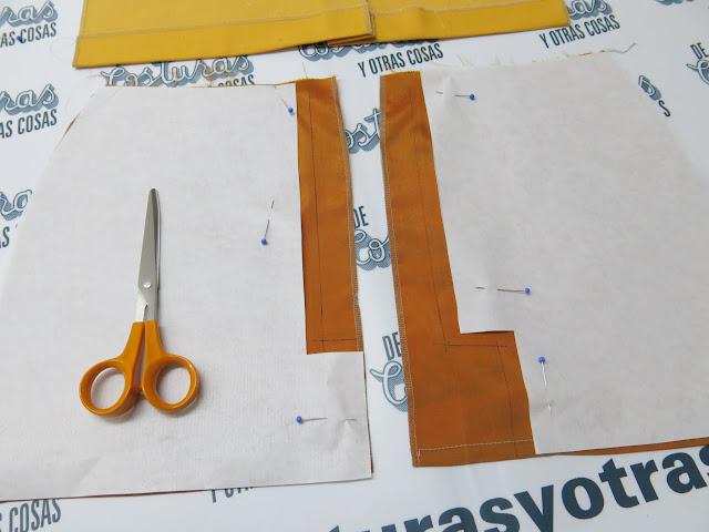 como hacer un forro según la abertura de la falda