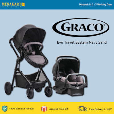 Graco Evo Travel System Navy Sand