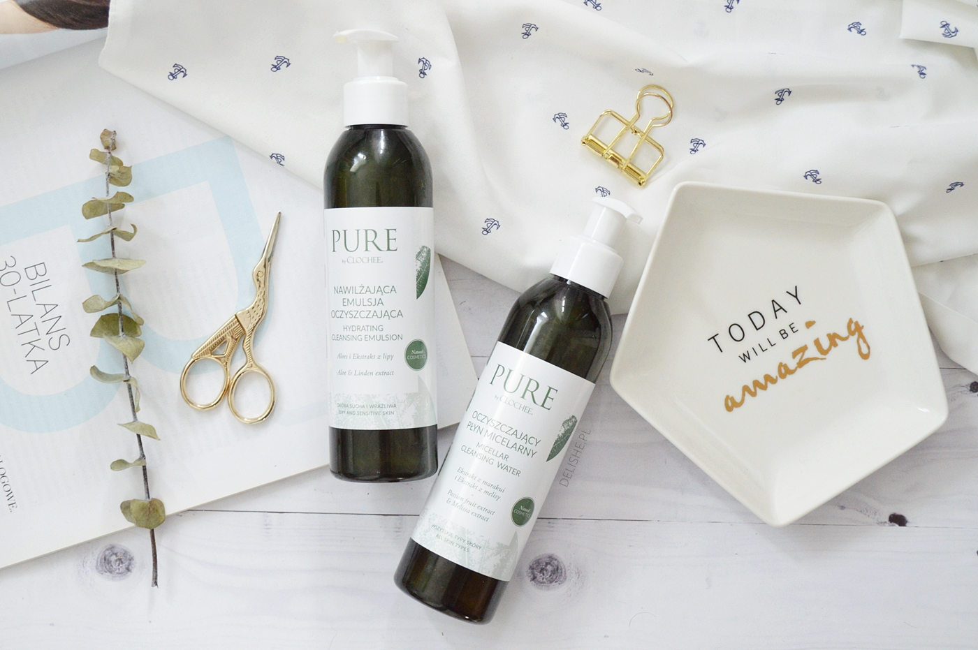 Kosmetyki Pure by Clochee emulsja i płyn micelarny