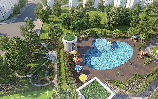 Bể bơi chung cư Iris Garden